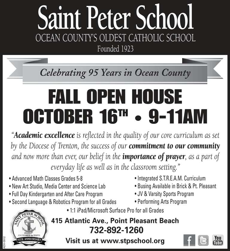 Saint Peter School Open House 2018