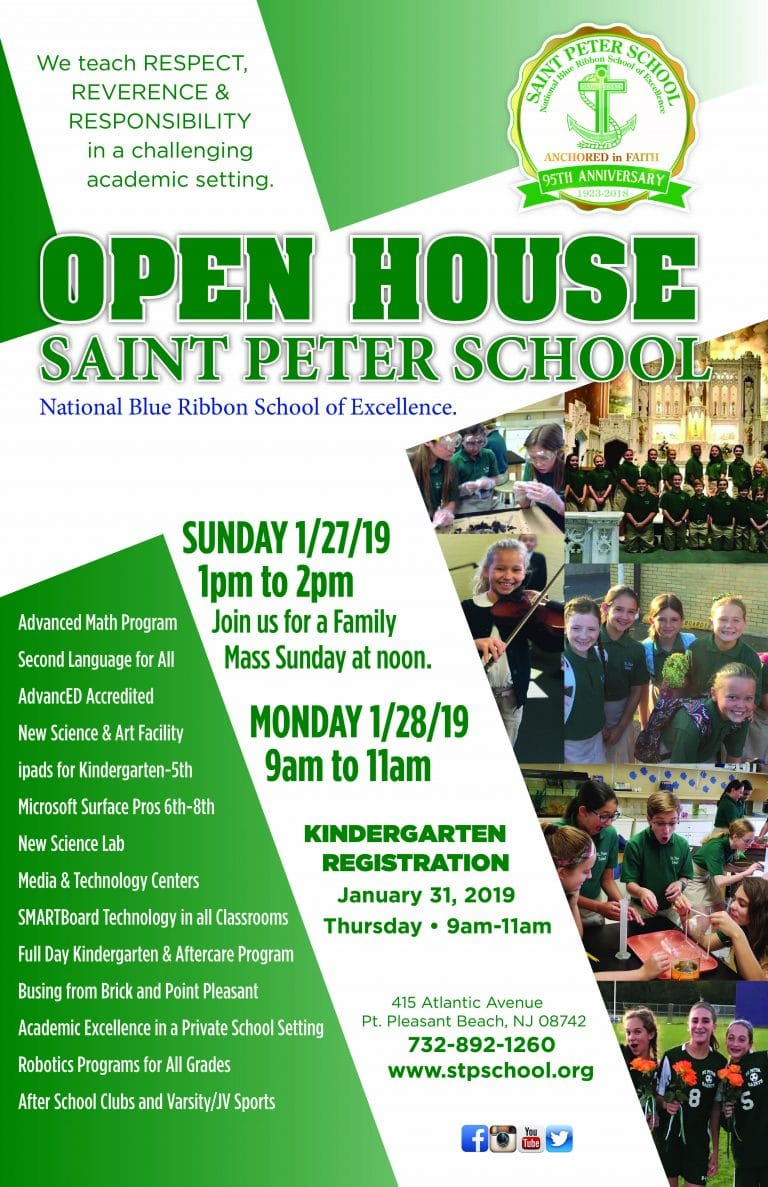 Saint Peter School Open House 2019