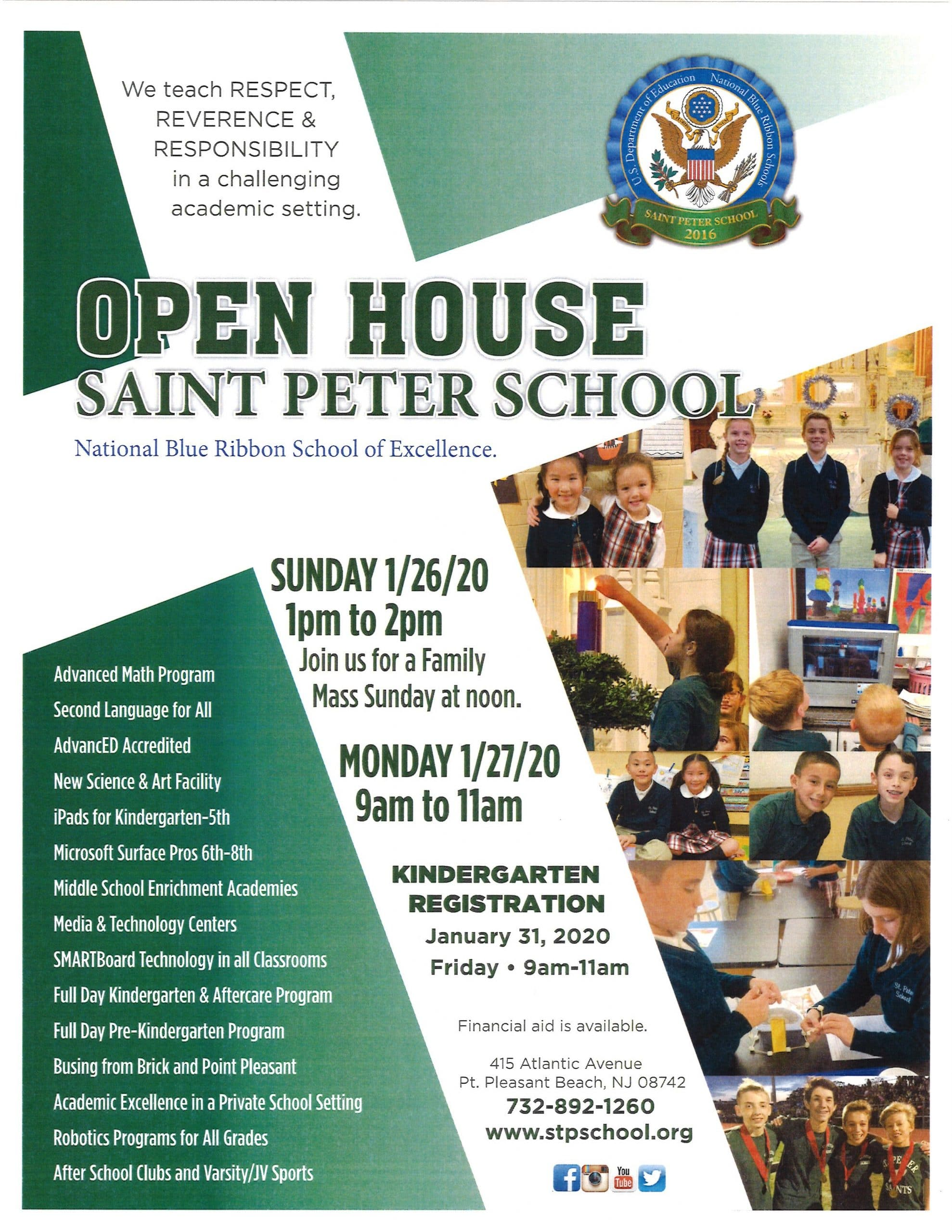 Saint Peter School Open House 2020