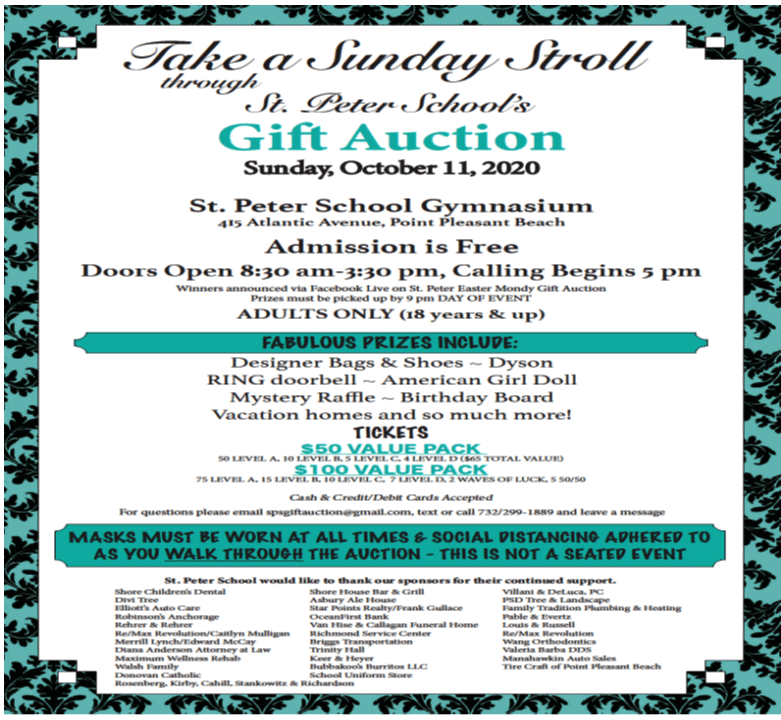 Gift Auction RESCHEDULED
