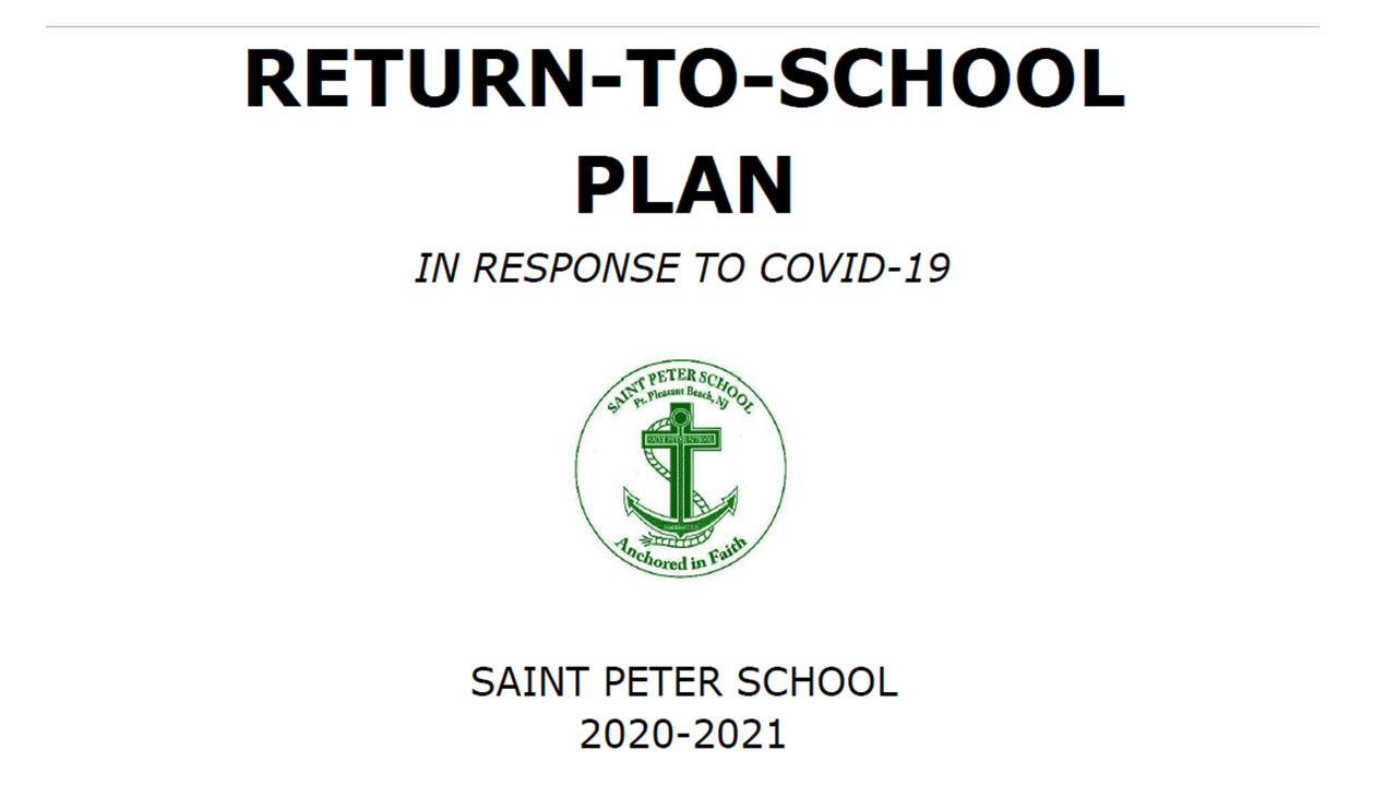 Return to School Plan – Updated 10/8/20