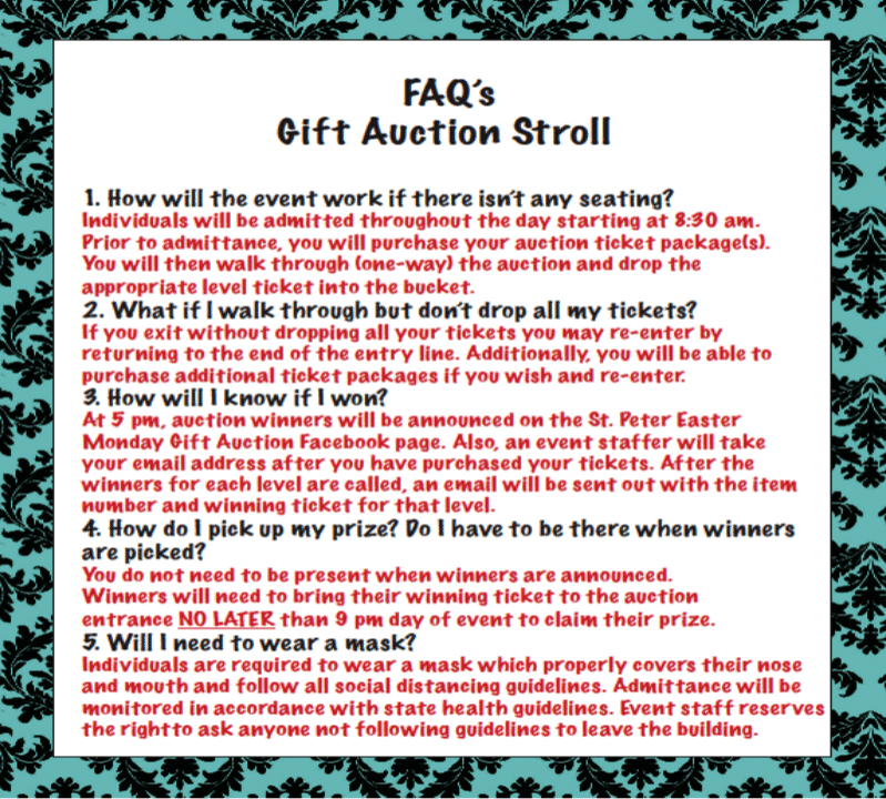 Gift Auction FAQ'S